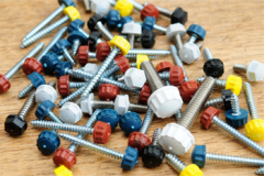 Polytops Socket Drive Screws in assortment of colours